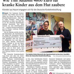 Zeitungsartikel in der Westerwälder-Zeitung